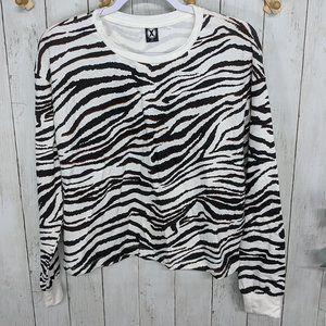 Circle X Long Sleeve Zebra Print Tee
